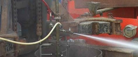Wasserstrahl-Schneiddüse 2500 Bar, Abrasiv, Einsatz im Brunnenbau