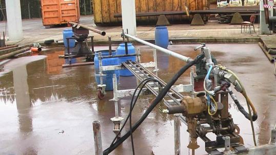 Gasförderrohr mit Reinigungslanze, 2800 Bar, 25 LPM